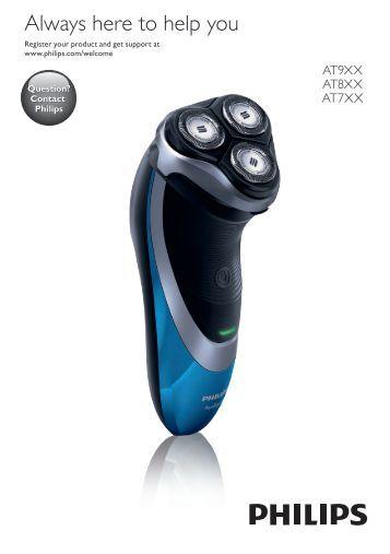 Philips AquaTouch rasoir électrique peau sèche et humide - Mode d'emploi - HRV