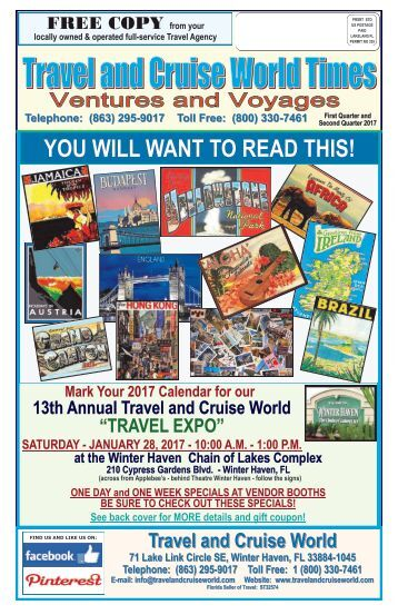 Travel and Cruise World Times Ventures and Voyages