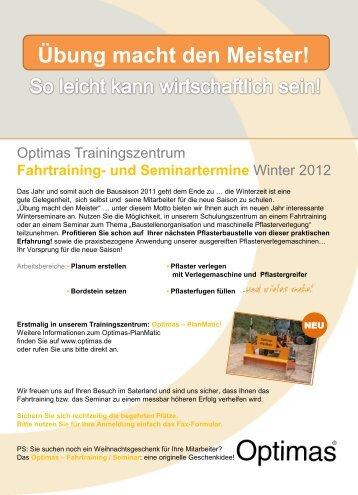 Auswertung Fragebogen Optimas - Seminar 2011 Gesamteindruck