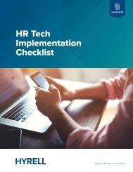 HR Tech Implementation Checklist