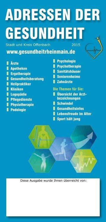 Adressen der Gesundheit Offenbach/Main