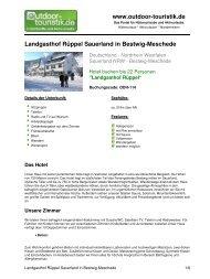 Landgasthof Rüppel Sauerland in Bestwig ... - Outdoor-Touristik