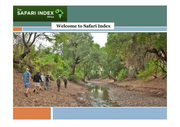 Welcome to Safari Index