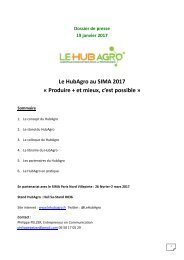 Le HubAgro au SIMA 2017 « Produire + et mieux c'est possible »