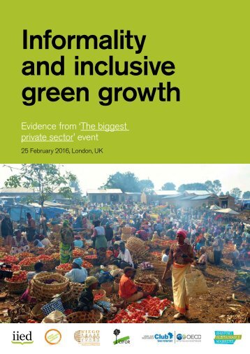 Informality and inclusive green growth