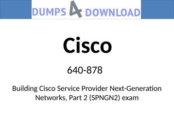 New Cisco 640-878 Question And Answer