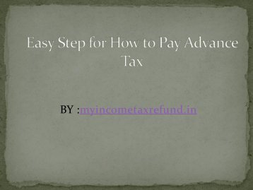 Easy Step for How to Pay Advance Tax