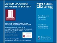 AUTISM SPECTRUM BARRIERS IN SOCIETY