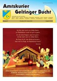 Amtskurier Geltinger Bucht Dezember 2011 ... - Steinbergkirche
