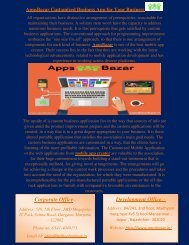 AppsBazar Customized Business App for Your Business