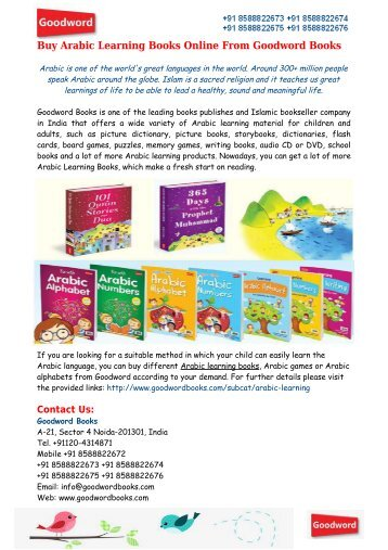 Buy Arabic Learning Books Online From Goodword Books
