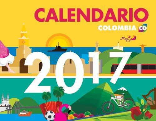 Calendario 2017 Colombia.Calendario Colombia