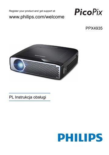 Philips PicoPix Projecteur de poche - Mode d'emploi - POL