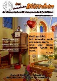 Gemeinde-Blättchen Februar Maerz 2017