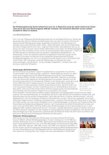 zum Artikel [pdf, 84 KB]  - Ö K O ENERGIE