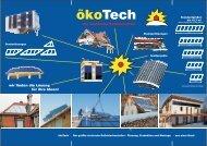 Image-Prospekt - ökoTech Solarkollektoren