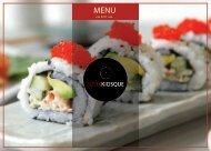 Menu Sushi Kiosque
