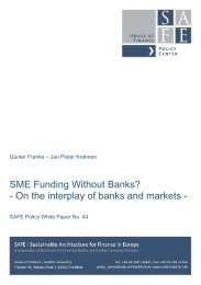 SME Funding Without Banks? - On the interplay of banks and markets -
