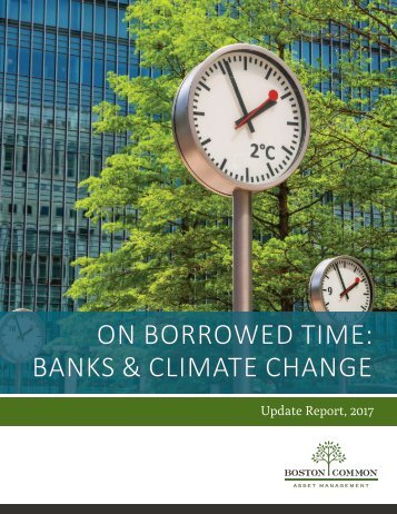 ON BORROWED TIME BANKS & CLIMATE CHANGE