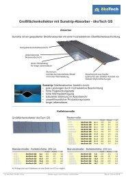 Großflächenkollektor mit Sunstrip-Absorber - ökoTech GS