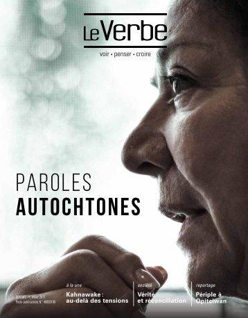 PAROLES AUTOCHTONES