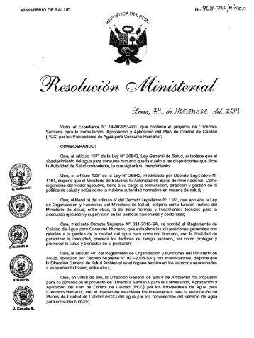 RM 908-2014-MINSA aprobacion del PCC