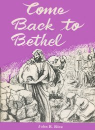 Come Back to Bethel - John R Rice