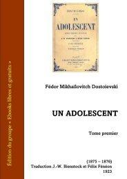 Un Adolescent Tome 1