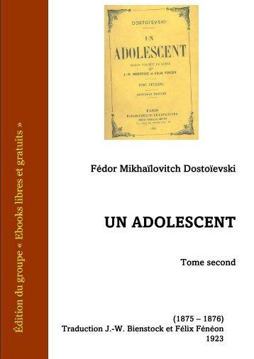 Un Adolescent, Tome 2