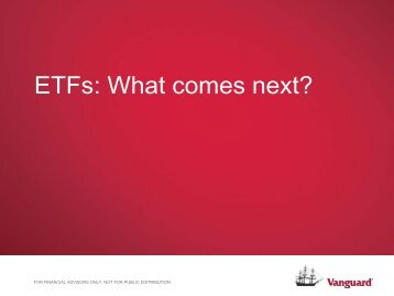 ETFs What comes next?