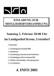 Samstag 2. Februar 20:00 Uhr im Landgasthof Krone, Uetendorf ...