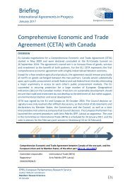 Comprehensive Economic and Trade Agreement (CETA) with Canada