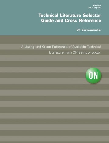 Technical Literature Selector Guide and Cross Reference