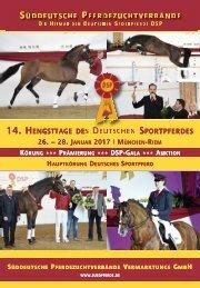 Hengsttage des Deutschen Sportpferdes vom 26. bis 28. Januar 2017