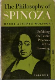 Harry Austryn Wolfson - Philosophy of Spinoza: Unfolding the Latent Process of His Reasoning (Vo.II)