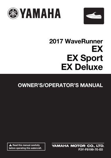 Yamaha EX Deluxe - 2017 - Manuale d'Istruzioni English