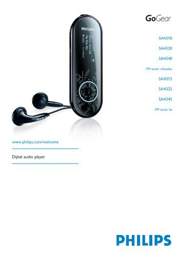 Philips Baladeur audio à mémoire flash - Mode d'emploi - TUR