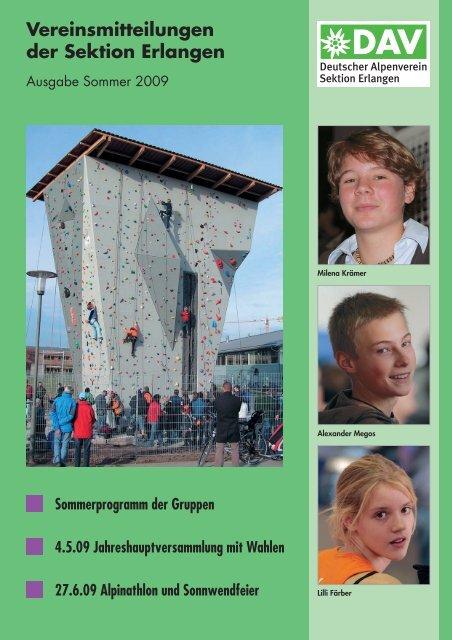 Sektionsmitteilung Sommer 2009 - Alpenverein Sektion Erlangen