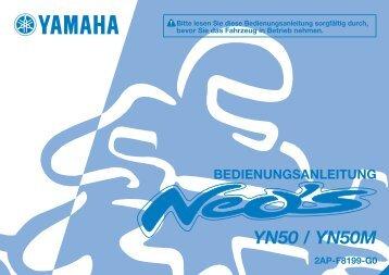 Yamaha NEO'S 50 4-ST - 2015 - Manuale d'Istruzioni Deutsch