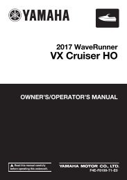 Yamaha VX Cruiser HO - 2017 - Manuale d'Istruzioni English