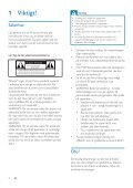 Philips Microchaîne - Mode d'emploi - SWE - Page 4