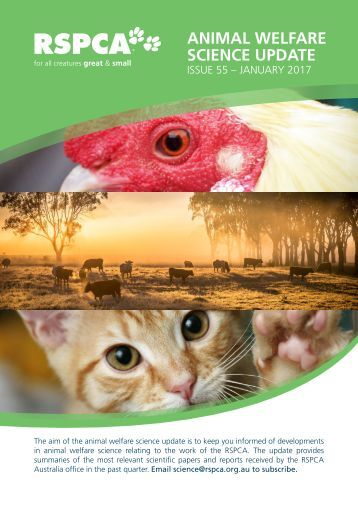 ANIMAL WELFARE SCIENCE UPDATE