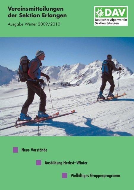 Sektionsmitteilung Winter 2009 - Alpenverein Sektion Erlangen