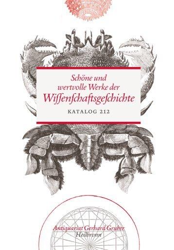 Schöne und wertvolle Werke der Wissenschaftsgeschichte - Katalog 212