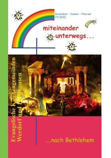 miteinander unterwegs... Evangelische Kirchengemeinden W erdorf ...