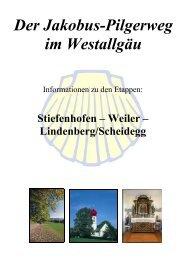Der Jakobus-Pilgerweg im Westallgäu - Scheidegg