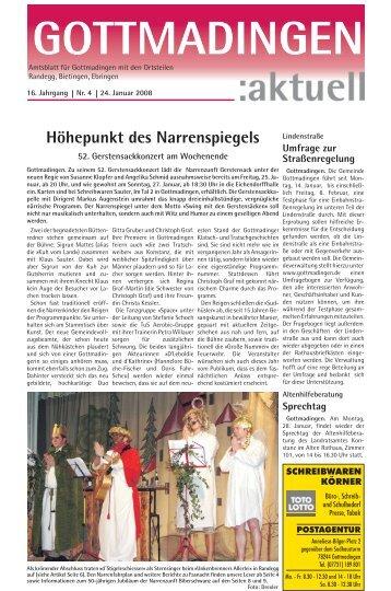 Gottmadingen Aktuell, Nr. 4 vom 24. Januar 2008 - in Gottmadingen
