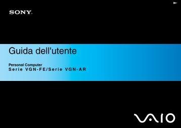 Sony VGN-FE31B - VGN-FE31B Istruzioni per l'uso