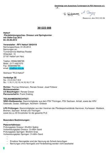 Dressur und Springturnier mit Oldie-Cup 2012 02.-03.06.2012 Veran