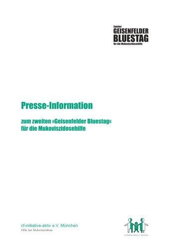 Presse-Information BLUESTAG - Geisenfelder Bluestag